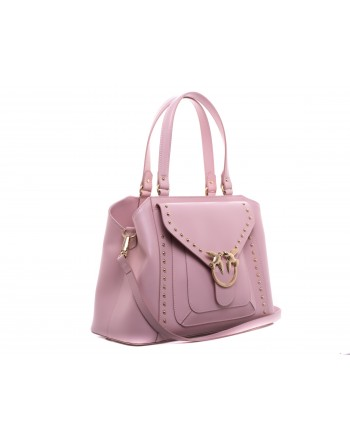 PINKO - Calf and Silk Bag AVOSSA - Light Pink