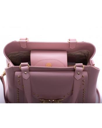 PINKO - Calf and Silk Bag AVOSSA - Light Pink