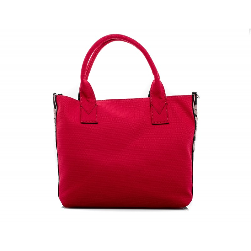 PINKO - Canvas Shopping Bag CRESTOSO - Red
