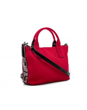PINKO - Canvas Shopping Bag CRESTOSO - Red