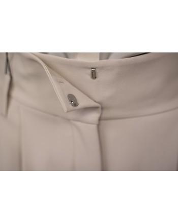 WEEKEND MAX MARA - High Waist Trousers with Belt VOTO - White