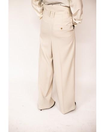 WEEKEND MAX MARA - Pantalone a Vita alta con cintura  VOTO - Bianco