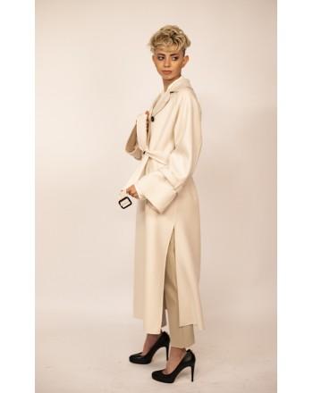 WEEKEND MAX MARA - Wool Long Trenchcoat OIDIO - White