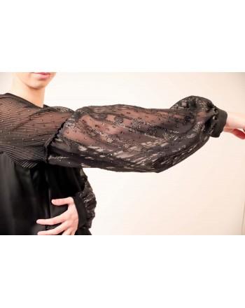 PINKO -  Fil Coupe Viscose Dress GOLOSO -  Black