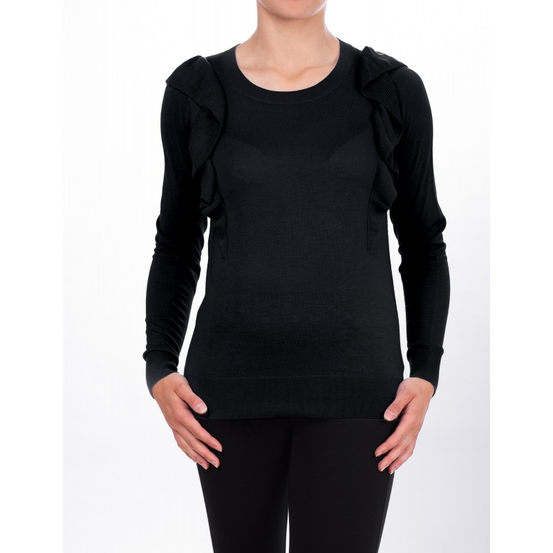 MICHAEL DI MICHAEL KORS - Viscose jersey with long sleeves - Black