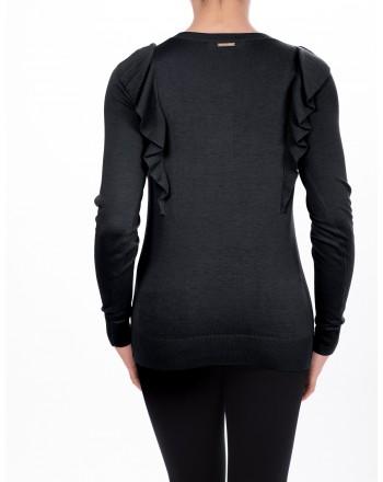 MICHAEL DI MICHAEL KORS - Viscose jersey with long sleeves - Black