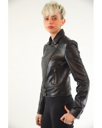 PINKO - CHIODO Leather Jacket SENSIBILE - Black