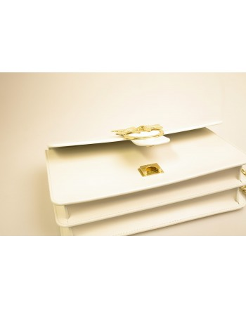 PINKO - Leather Bag LOVE SIMPLY - White