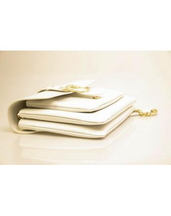 PINKO - Leather Bag BIG LOVE SOFT - White