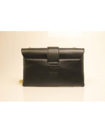 PINKO -Leather Bag MINI LOVE SOFT - Black