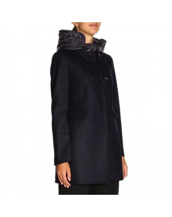 FAY -  Montgomery Coat with quilted Hood - Navy