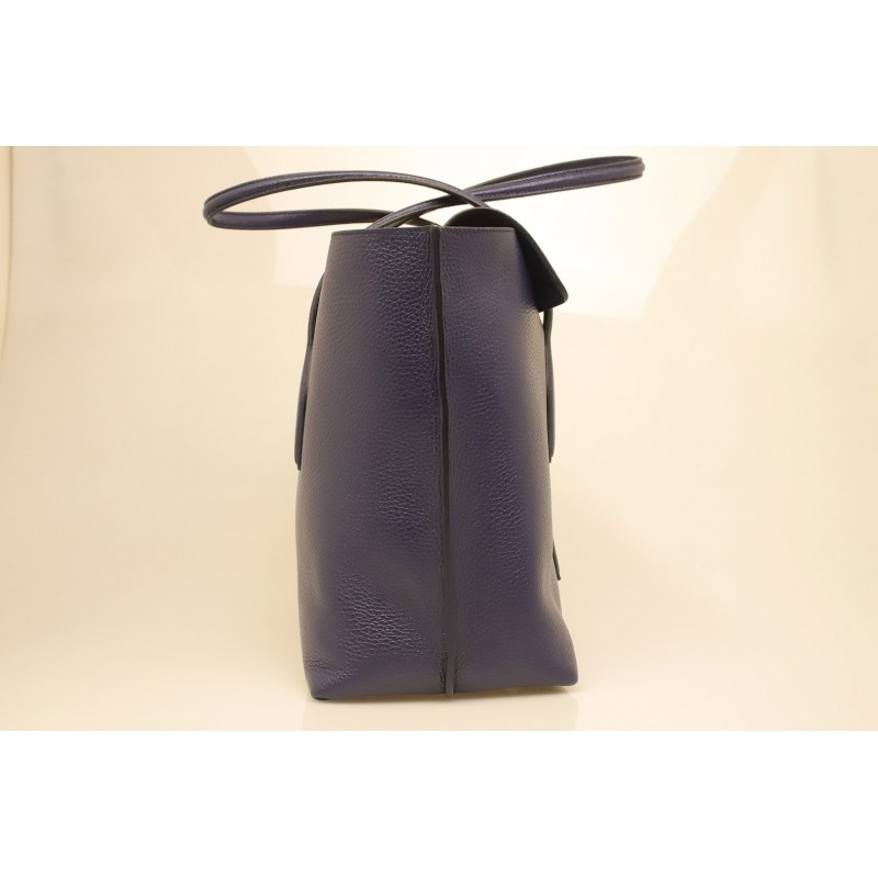 TOD'S - Leather Shopping Bag - Blue
