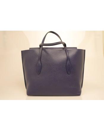 TOD'S - Borsa Shopping in pelle - Blu