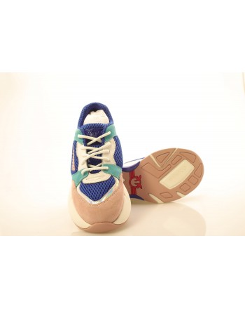PINKO - Technical Fabric Sneakers  - Blue/White/Pink