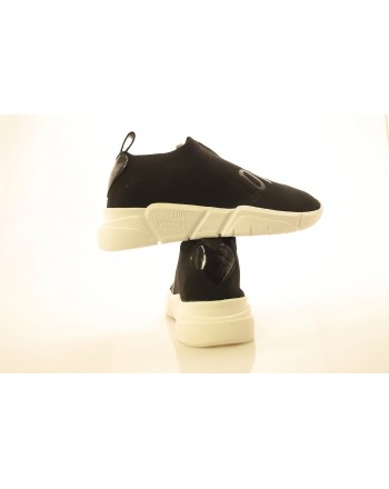 LOVE MOSCHINO - Technical Fabric Sneakers - Black
