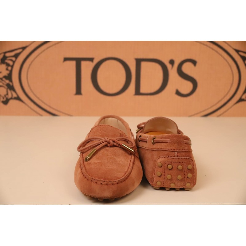 TOD'S - Mocassino in Pelle Scamosciata - Rosa