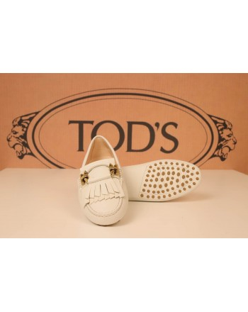 TOD'S - Leather GOMMINO - Loafers - White
