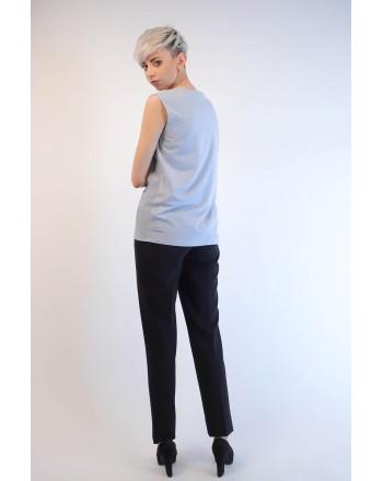 WEEKEND MAX MARA - Frills T-Shirt LAZISE - Light Blue
