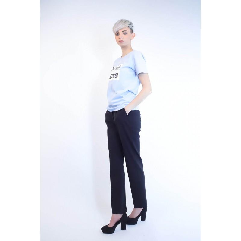 PINKO - T-Shirt in Cotone SPONTANEO - Light Blue
