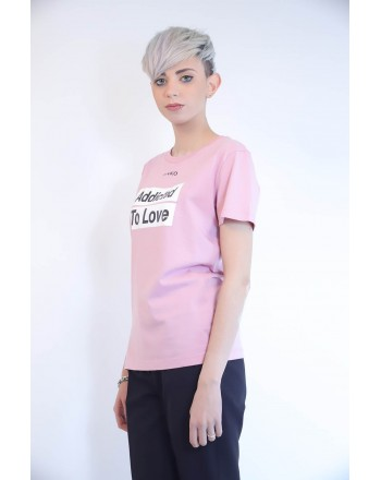 PINKO - T-Shirt in Cotone SPONTANEO - Rosa
