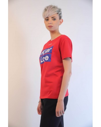 PINKO - Cotton T-Shirt SPONTANEO - Red
