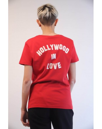 PINKO - T-Shirt in Cotone SPONTANEO - Rosso