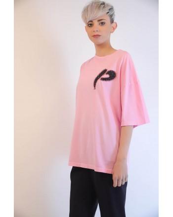 PINKO - T-Shirt PINKOSO in Jersey - Rosa