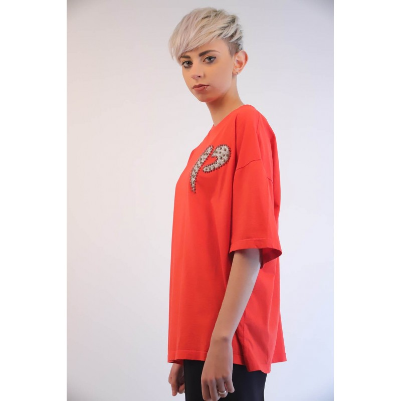 PINKO - T-Shirt PINKOSO in Jersey - Rosso
