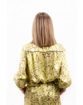 PINKO - Blusa CLARISSA in viscosa - Giallo/Marrone