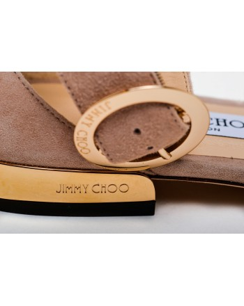 JIMMY CHOO -  Suede Flats  JAIMIE - Ballet Pink