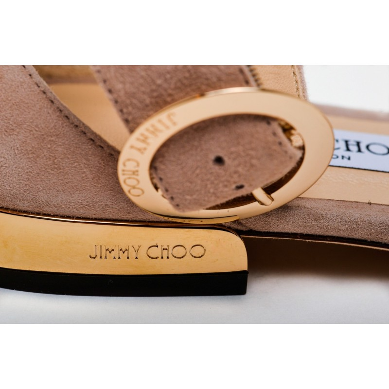 JIMMY CHOO - Sandalo Flat in Suede JAIMIE - Ballet Pink