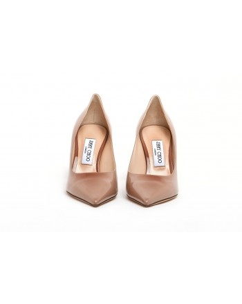 JIMMY CHOO - Décolleté in Vernice LOVE 83 - Ballet Pink