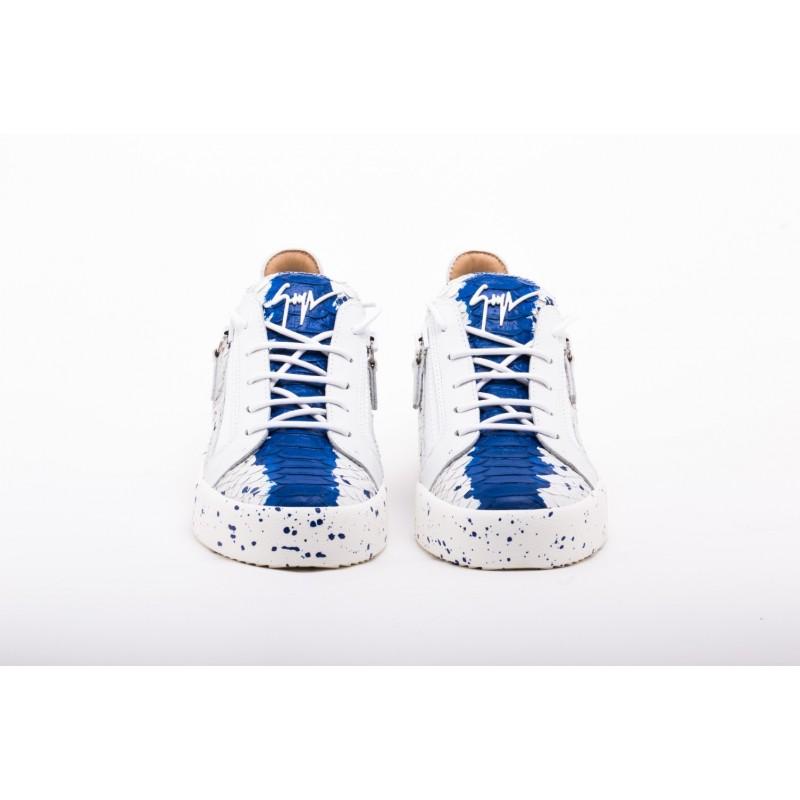 GIUSEPPE ZANOTTI -   Sneakers  Low Top DOUBLE SKETCH - Bianco e Blu