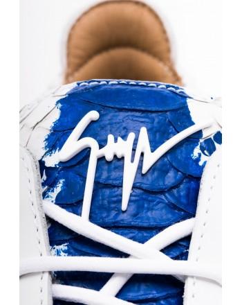GIUSEPPE ZANOTTI -   Sneakers  Low Top DOUBLE SKETCH - White/Blue