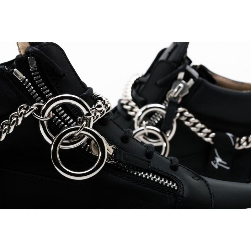 GIUSEPPE ZANOTTI -   Sneakers Mid Top CHAIN - Black