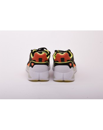 MCQ BY ALEXANDER MCQUEEN - Sneakers DAKU in Suede effetto Patchwork - Bianco/Nero/Giallo