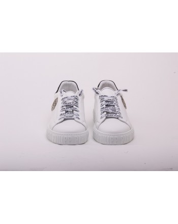 PHILIPP PLEIN - Sneakers  in Pelle  Low Top MEGASTAR - Bianco
