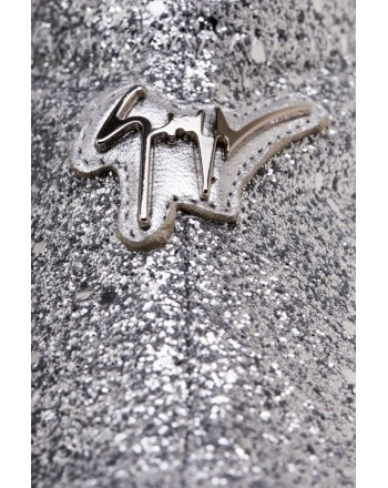 GIUSEPPE ZANOTTI - Sneakers Mid Top GLITTER JUMP - Silver