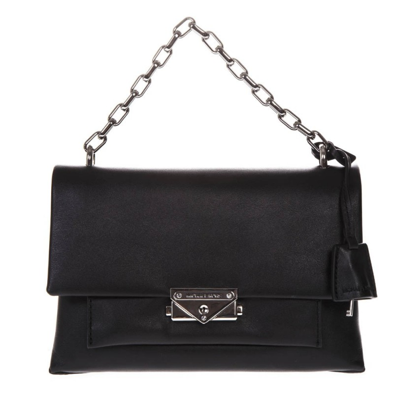 MICHAEL BY MICHAEL KORS -  Big Leather CECE Shoulder Bag - Black