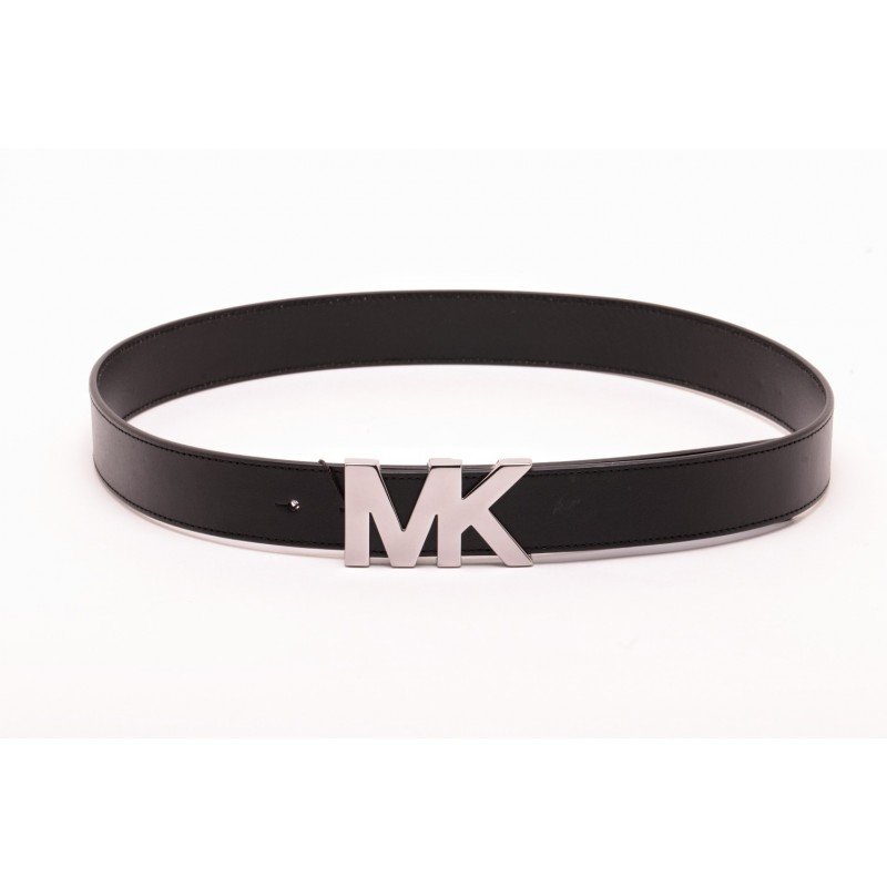 MICHAEL BY MICHAEL KORS - Logo Leather Belt - Black