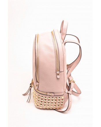 MICHAEL BY MICHAEL KORS - RHEA STUDS Backpack with Golden Studs - Soft Pink