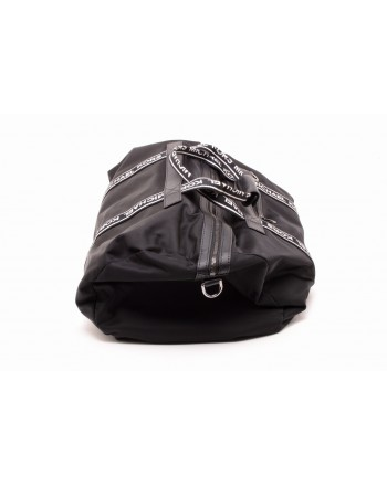 MICHAEL BY MICHAEL KORS - Nylon Travel Bag Backpack with Logo - Black/White