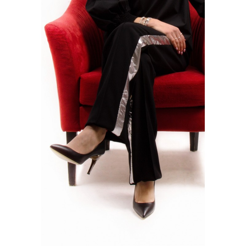 PINKO - INSTABILE Crepe Trousers - Black