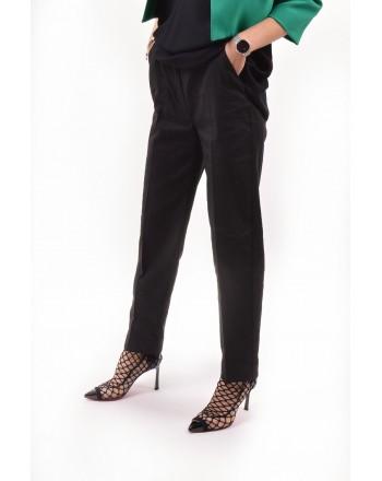 PINKO - NUCCIA trousers in viscosa - Black