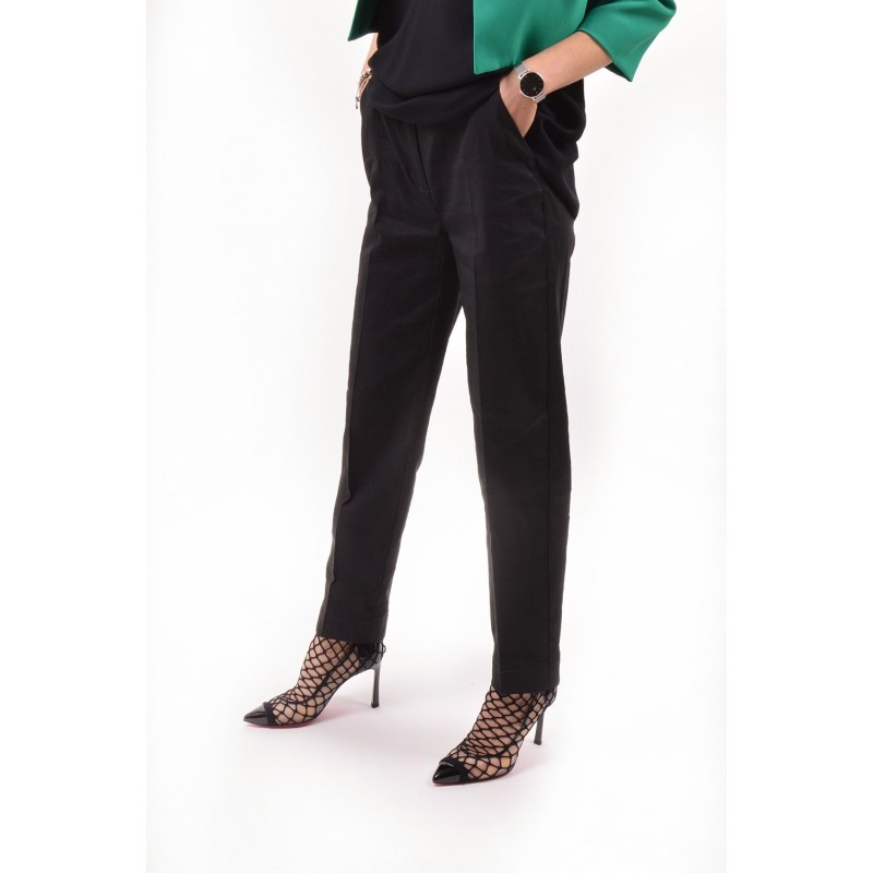 PINKO - NUCCIA trousers in viscosa - Black