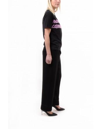 MCQ BY ALEXANDER MCQUEEN -  Maxi Logo T-Shirt BOYFRIEND - Black