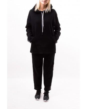 MCQ BY ALEXANDER MCQUEEN - Pantalone sportivo con banda logata - Nero