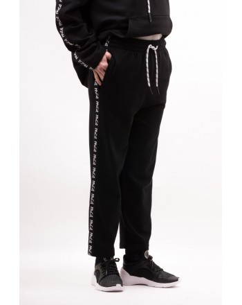 MCQ BY ALEXANDER MCQUEEN - Sports trousers with with logo band - Black