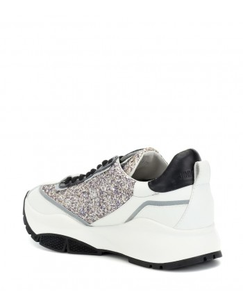 JIMMY CHOO -  Glitter Sneakers RAINE  - Platinum Mix