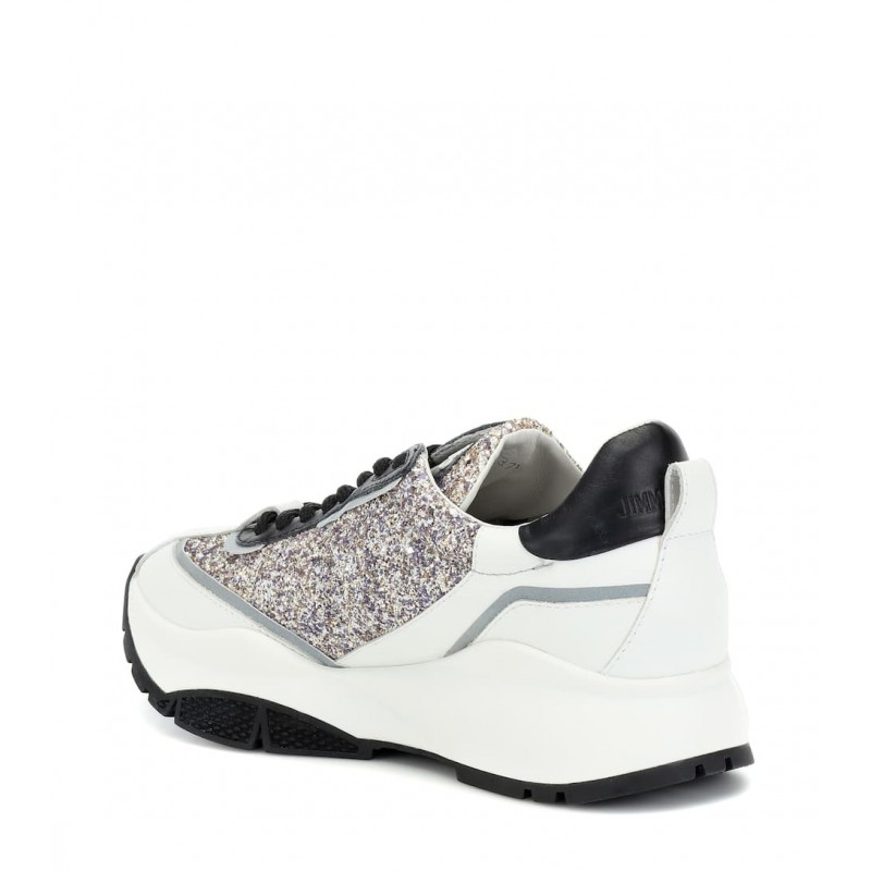 JIMMY CHOO -  Sneakers RAINE con Glitter - Platinum Mix